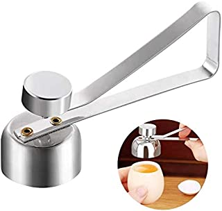 Egg topper cutter, stainless steel egg opener for raw, soft or hard boiled eggshell