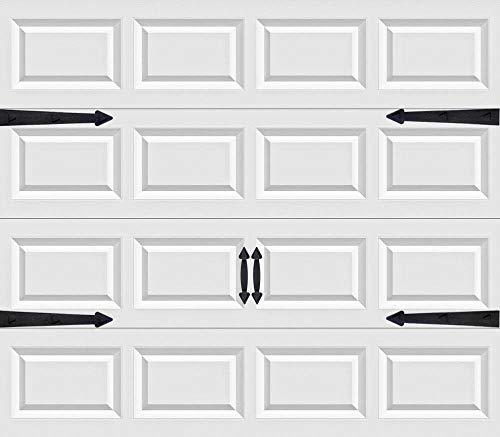 Magnetic Garage Door Handles | Decorative Faux Hinges Hardware Kit | Six Piece Black Accessories Set | Decor Accents That Give a Beautiful Design and are Easy to Install