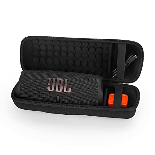Hard Case for JBL Charge 4 & Charge 5 Bluetooth Speaker, Portable Carrying Case Travel Cover Storage Bag (Black)