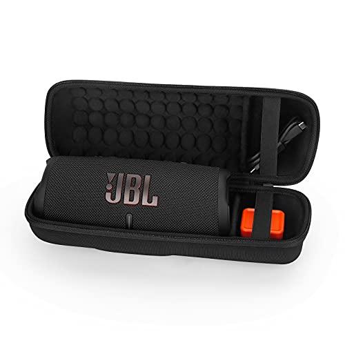 Estuche Funda para JBL Charge 4/JBL Charge 5 Altavoz Inalámbrico Portátil con Bluetooth,Caja Cubrir EVA Duro Caso Recorrido de Estéreo Bolsa de Almacenamiento Viajar Bolso (Black)