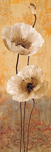 Quadro Stampa su Tela – Dipinti Papavero Iv Pittura Di Fiori Astratti Decorazione da Parete – 40X120 cm