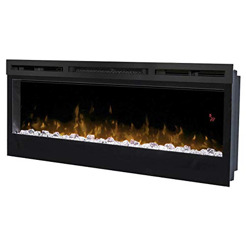 Dimplex 208378 Prism 34' 1250W decoratieve open haard Optiflame in wand- en verwarming met diamantstenen, 5 kleurinstellingen, 1250 W, 220 V, zwart
