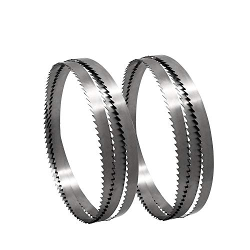 without brand LT-Tool, 2pcs de 1650 × 15 × 0,65 mm Sierra de Cinta Hojas de Sierra de Acero al Carbono de la Banda de la lámina for Madera Metal Plástico 6 TPI (tamaño : TPI 6)