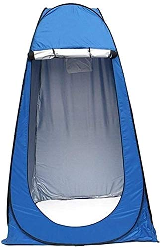 Plztou Privacy Tent for Portable Toilet Pop-Up Automatic Tent Wc Tent Canvas Waterproof Outdoor Camping Shower Tent for 1 Person Ul Tents Outdoor Family Tourism Tente Easy Set Up (Color : Blue)