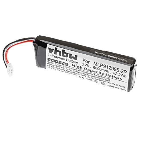 vhbw Batería Compatible con JBL Charge 2 Plus, Charge 2+, Charge 3 Bluetooth Altavoz, reemplaza MLP912995-2P (polímero de Litio, 6000mAh, 3.7V)