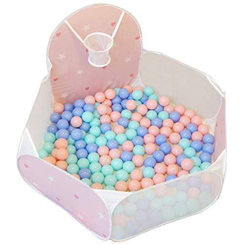 AABBC Playpens Kids Ball Pit Piscina de Bolas para niños pequeños Tienda de Juegos para bebés Piscina para Interiores y Exteriores Piscina con aro de Baloncesto Bolsa de Almacenamiento Plegable (p