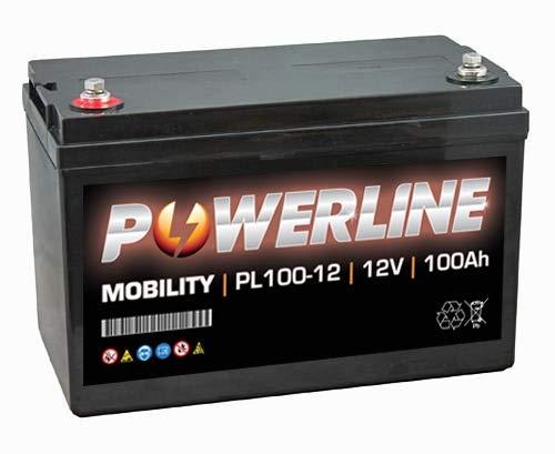 PL100-12 Powerline Mobility Accu 12V 100Ah