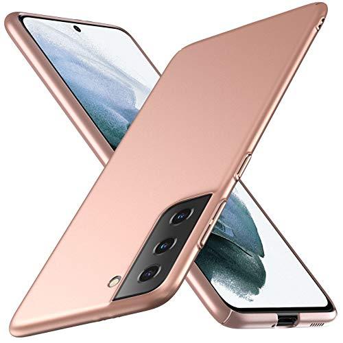 TOPACE Kompatibel mit Samsung Galaxy S21 Hülle,Superdünne Handyhülle Samsung S21 Hülle Slim Leicht Anti-Fingerabdrucke Anti-Kratzer Matte Schutzhülle kompatibel mit Samsung S21 (Gold)