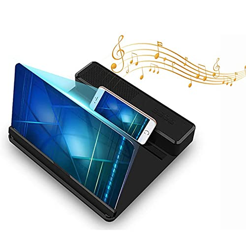 YANXS 3D Lupa de Pantalla con Altavoz Amplificador Portátil de Pantalla del Teléfono Plegable HD Proyector de Películas para Leer Libros Periódico Ver Películas