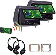 """Concept BSD-905MPKG1 9"""" LCD/DVD with (2) Miracast Headrest Monitors and (2) Headphones"""