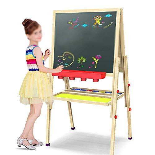 Magnetische schoolbord ezels kinderen Sketchpad DoLIelseitige magnetische multifunctionele houten paneel Massief houten kan for kinderen steigers Folding Tablet 148cm zal opheffen