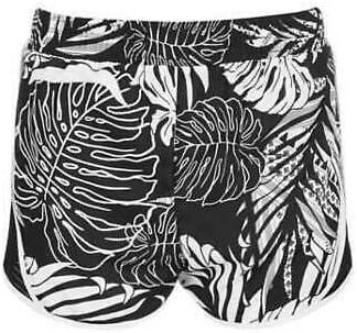 Ideology Big Girls Black Printed Mesh Inset Active Shorts Size