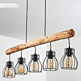 Pendelleuchte Gondo Metall/Holz LED - 8