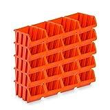 20 Stück Sichtlagerboxen Größe 6 - rotbraun (39 x 24 x 18 cm)