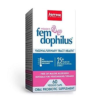 Jarrow Formulas Fem-Dophilus - 1 Billion Organisms Per Serving - 60 Veggie Capsules - Women's Probiotic - Urinary Tract Health - Up to 60 Servings