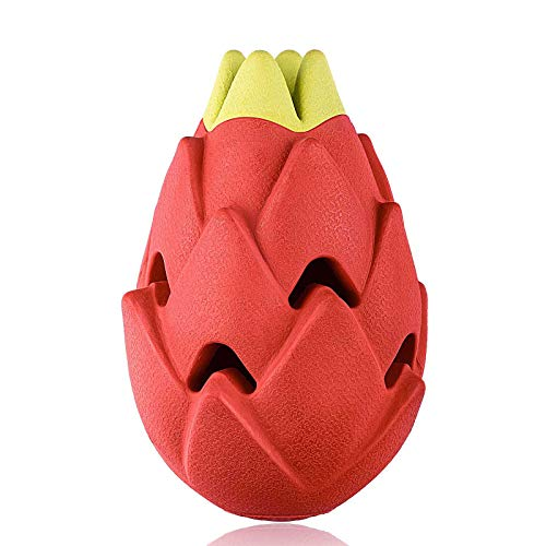I-pure items Dog Chew Toys for Aggressive Chewers Large Breed,Tough Dog Toys Large Breed,Indestructible Dog Dental chew for Large Medium Dogs-Pitaya