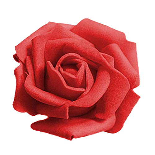 50 STK Künstliche Schaum Rosa Köpfe von Blumen Bouquet Braut Partei Dekoration für die Haus rot