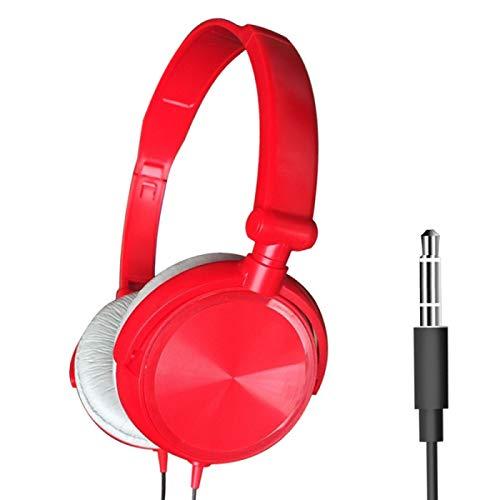 MeterMall S1 Bedraad Computer Headset met Microfoon Zware Bass Game Karaoke Voice Headset Rood zonder tarwedoos