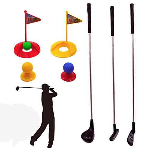 LY-LD Kinder-Indoor-Golf-Set des 10,Metal-Clubs Parent-Child-Outdoor-Spielzeug-Kits für Kinder von 3-8 Jahren