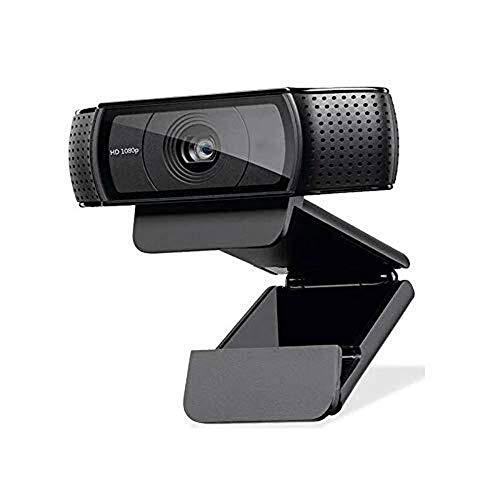 Caijie 1080P cámara de alta definición con micrófonos duales, C920 Webcam for las reuniones del juego, enfoque automático, sonido estéreo natural, azul corriendo indicador adecuado for el hogar, equip
