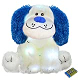 The Noodley LED Stuffed Animal Plush Light Up Toys Kids Night Lights Gifts for 4 Year Old Boys - Puppy Dog Changes 4 Colors, Batteries Included, 16 inches