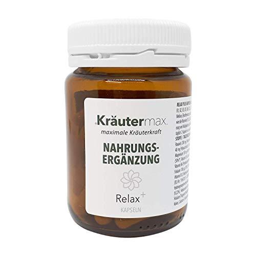 Kräutermax Cápsulas relajantes 1 x 60 piezas Complemento alimenticio vegano