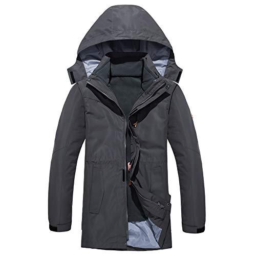 Softshell de exterior para hombre Hombres y mujeres exterior largo rompevientos impermeable a prueba de viento y caliente de dos piezas de la chaqueta de paño grueso y suave de Shell Resistente al agu