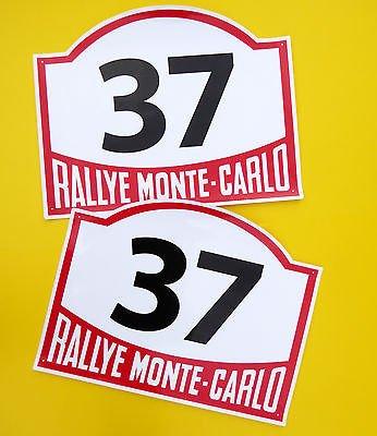 VINTAGE-stil Klassisches Auto MONTE CARLO RALLYE RENNEN NUMMERN ideal für MINI COOPER