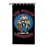 Los Pollos Hermanos 2 ポリエステル生地防水バスルームシャワーカーテン2つのサイズのフックが含まれています