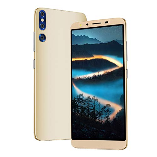 Teléfono inteligente de alta definición 3G de 5.72 pulgadas, teléfono inteligente ultradelgado de reconocimiento facial con procesador potente, cámara de alta definición, para Android OS 4.4(dorado)