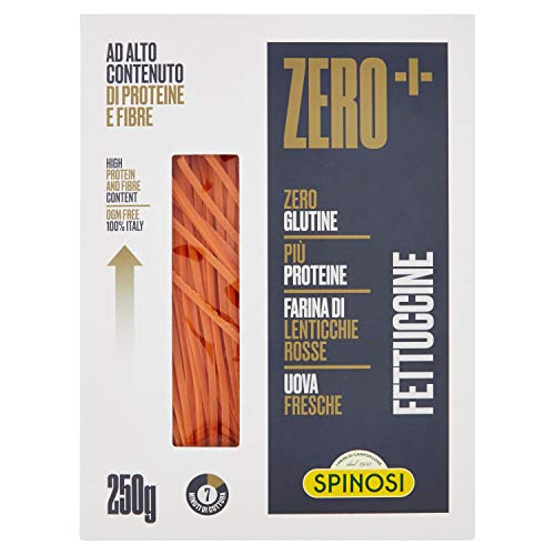 Spinosi Fettuccine Zero+ alla Lenticchie Rosse - 250 Gr
