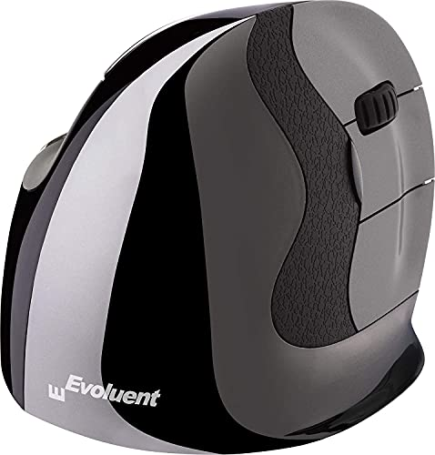 Evoluent VMDMW VerticalMouse D Medium Right Hand Ergonomic Mouse with Wireless USB Receiver. The Original VerticalMouse Brand Since 2002