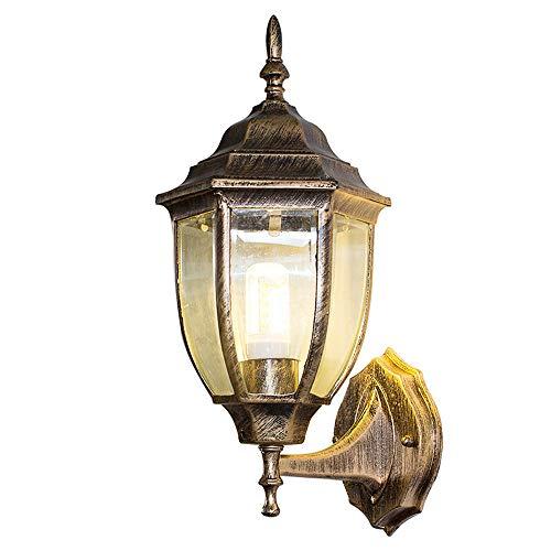 QTRT Lámpara de Pared Estilo Europeo Pasillo Impermeable Al Aire Libre Luz de la Pared Retro Pasillo Escaleras Balcón Luz de la Pared al Aire Libre Lámpara Colgante Lámpara Led (tamaño : Two Packs)