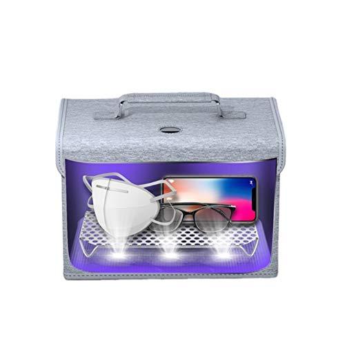 ZHISIDA Bolsa desinfectante de luz UV con 12 luces LED, caja desinfectante UVC portátil para teléfono celular, joyas, relojes, gafas, sin mercurio ni productos químicos