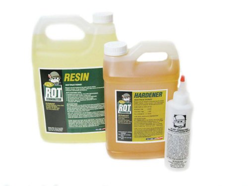PC Products PC-Rot Terminator Epoxy Wood Hardener, Two-Part 1.5 gal in Two Bottles, Amber 192610