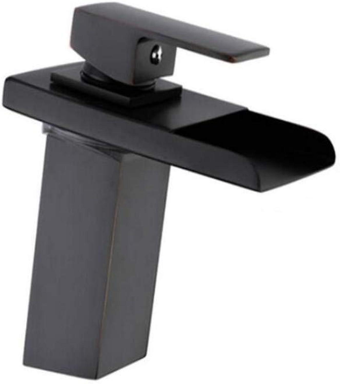 Brass Chrome Modern Basin Tap Water Taps Bathroom Sink Faucets Waterfall Black Faucet Mixers Bathroom Brass Basin Faucet