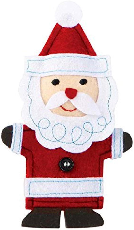 C.R. Gibson Jill McDonald Felt Santa Finger Puppet by CR Gibson dba Lisa Frank