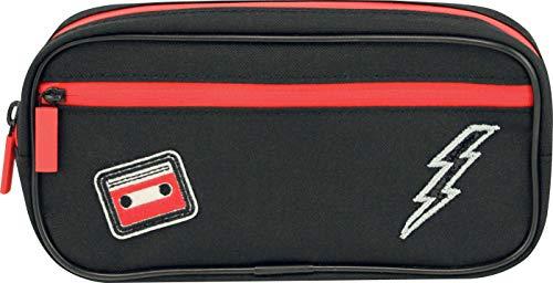 Lauren & Johnny 50508 - Astuccio portapenne con cerniera, 21 x 5,5 x 9,5 cm, colore: Nero...