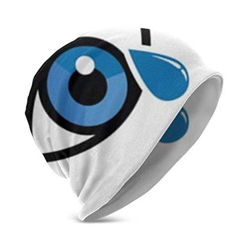Preisvergleich Produktbild Unisex Beanie Hat Cálido y acogedor Azul seco Icono de gota de ojo Vector 3D Kids Fashion Beanie Caps adecuado para niños de 3 a 15 años