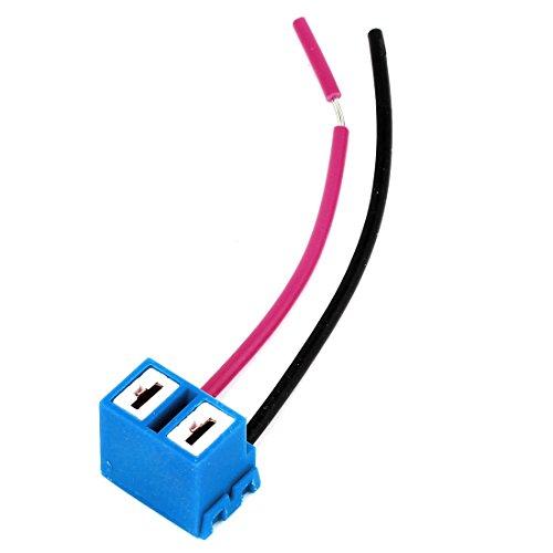 Sourcingmap H7 Base Socket de Luz Faro 2 Cables Conector de Cerámica para Coche