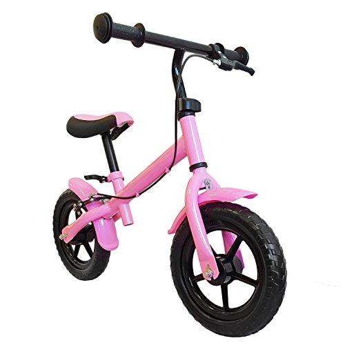M&G Techno Kinder Laufrad, mit Handbremse, Räder ca. 30,3cm (12 Zoll), Farbe pink, mitwachsendes Lernlaufrad, Lauflernhilfe, Roller für Kinder ab 2 Jahren