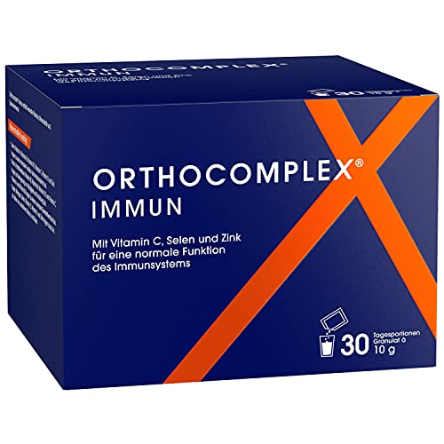 ORTHOCOMPLEX IMMUN zum Immunsystem stärken - 30 Tage Immun Boost Monatskur - Rundum-Sorglos-Granulat mit allen relevanten Vitaminen & Mineralien für d. Immunsystem - Apothekenprodukt Made in Germany