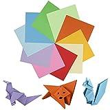 Belle Vous Papel de Origami (1100 Hojas) - 15 x 15cm – Set Papel Doble Lado en 10 Colores Llamativos - Papel Papiroflexia Fácil Plegado– Papel Cuadrado Origami Kit Manualidades Niños, Estudiantes