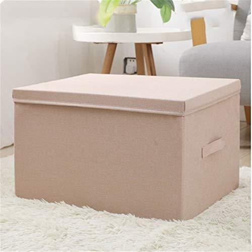 ETRZ Faltbare Kleideraufbewahrungsbox aus Stoff (Aprikose 45 * 35 * 25 cm)