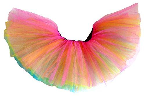 Dancina Adult Tutu Classic 5 Layer Cute Adult 5k 10k Fun Color Run 80s Skirt Short 10
