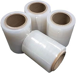4 x Pack Stretch Verpackungsrolle Klar von Net4Client - Paket Verpackung Boxen Wrap Frischhaltefolie Stretch Rollen Schnelle Starke Verpackung Paket 100mm 150m 23m
