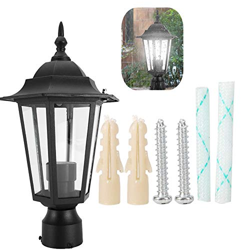 Jadpes Led-wandlamp, E27-fitting, zeskantige wandlamp, waterdichte wandlamp voor bar, café, tuinplaats, Villa straatlantaarnkop, 85 V-265 V