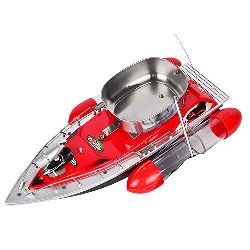 Cebo de pesca teledirigido – 300 m, barco teledirigido, 1,2 kg, barco de cebo inalámbrico con luz LED, distancia Angel Nest Boot 5200 mAh (rojo)