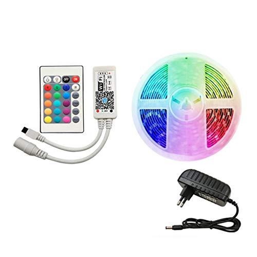 DZHT Controlador IR Tira de LED Impermeable 5M 15M 20M RGB Tira de luz LED 5050 RGB Cinta de Cinta de iluminación Flexible (Color : Waterproof, Size : 20M Full Set)