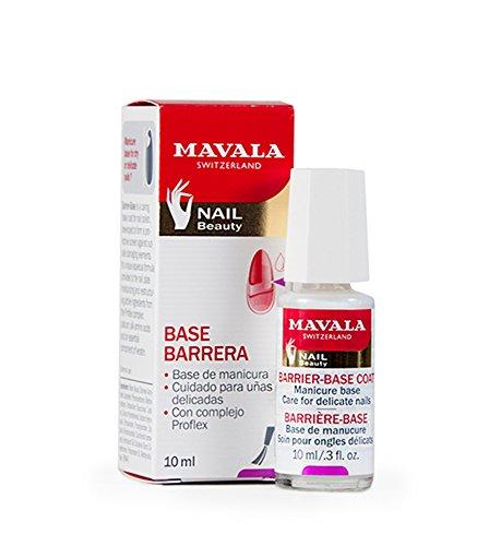 Mavala Base-Barrera | Base Coat | Base Protectora de Uñas | Tratamiento de Manicura para el Cuidado y la Protección de Uñas Delicadas, 10 ml